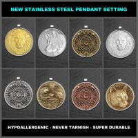 My Coins Now Available in Stainless Steel Settings by GoodSpiritWolf