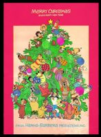 Hanna Barbera Christmas Poster by slappy427