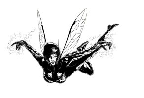 Wasp Lineart by RossoWinch