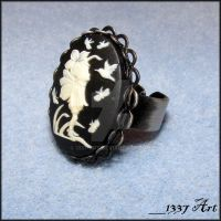 Fairy Cameo Cocktail Ring by 1337-Art