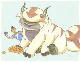 moon peaches for Appa by lily-stardust