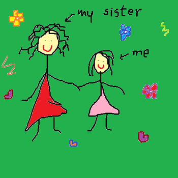 My sister and me by purpleprussian