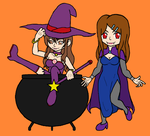 Witch and Vampire by Twardz