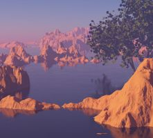Red Mountains (2) by MariaFuchs