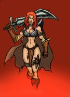 A REALLY RED SONJA by Sabrerine911