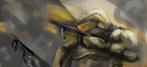 master chief speed painting by xabian