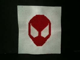 Scarlet spider cross stitch by WhispMI21