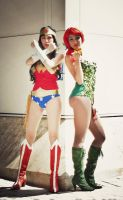 Wonder Woman and Poison Ivy Cosplay by Mcjustwannahavefun