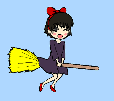 Kiki ms paint Tablet Practice by SuperDesuSama