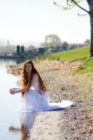 Crouched by the river v2 by Sinned-angel-stock