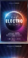 The Electro Night Flyer Template by bouzix