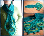 Peacock Scarf by melzika