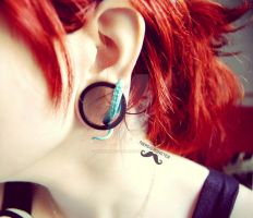 Tentacle ear plug by Nerdiemonster