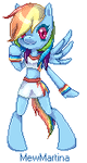 Pixel Rainbow Dash by MewMartina