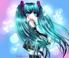 Hatsune Miku by MilkyWay-Galaxy