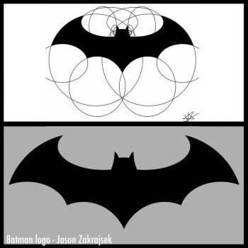 Batman logo_ with circles by jzak2392