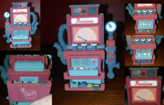 Lv. 3 Dispenser- Red- 3D Print [For Sale] by Zombie-Nixon