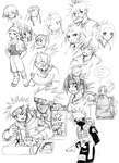 Misc. Naruto Sketches by ahnline