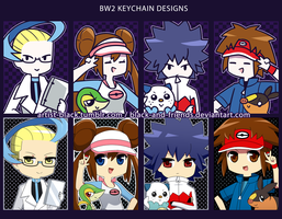 BW2 Keychain Designs by artist-black