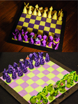Tentacle Chess Boards by querulousArtisan