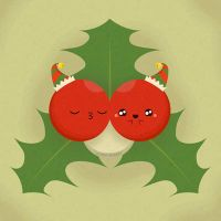 Kissing Mistletoe Berries by orangecircle