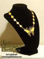 Deco Butterfly Shell Necklace by Angelic-Artisan