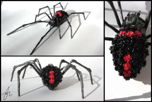 Polymer Clay Rose Bud - Black Widow by InfiniteIsaac