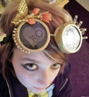 Steampunk Goggles by MindlessKitteh