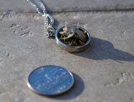 SOLD Mouse Skull Necklace by kittykat01