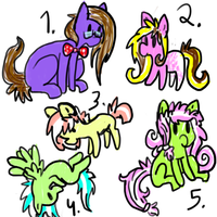 Pony Auction/Adopt! ..::OPEN5/5::.. by love-the-adopts