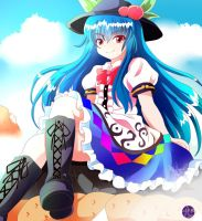 Redraw/Colouring Tenshi from Oriental Sacred Place by Adityadark67