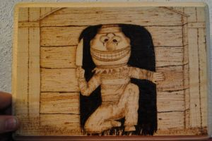 Fallout 3 Pint-sized Slasher Woodburning by DJdrummer
