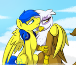 Sky Cuddles By Theparagon [NOT MY ART] by Orion487
