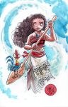 Watercolor: Moana by mikemaihack