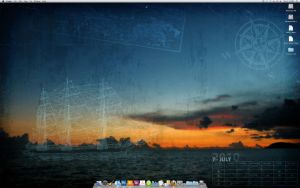 Nautical Sunset Desktop by cow41087