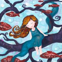 floating away by libelle