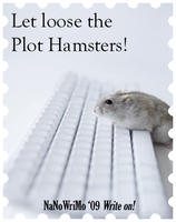NaNo banner - plot hamsters by scifiroots