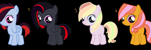 MLP Filly Adoptables by MonkFishyAdopts