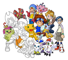 Digimon Adventure Wallpaper Preview by Guitar6God