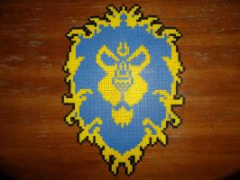 Perler Bead Alliance Crest by EP-380