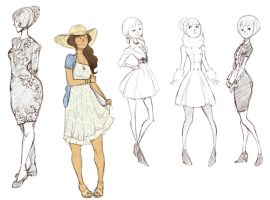 Dress doodles by Chopstuff