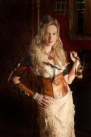 Hard Leather Airship Pirate Map Corset by BruteForceStudios