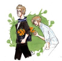 aph ned and lux tulips by AnnHolland