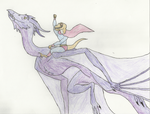 Dinosaur Superhero Riding A Dragon by anigore