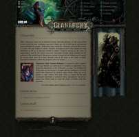 Game website design by scareddragon-pl
