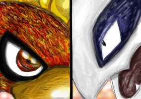 Ho-oh VS Lugia by AshKetchumLove4ever