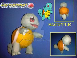 Squirtle pokemon papercraft by javierini