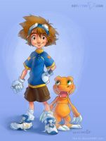 Digital Friends - Digimon Fan Art by The-Ez