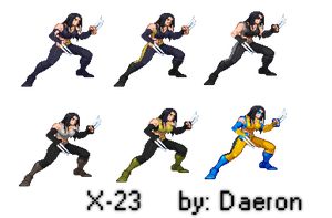 X-23 sprite by Daeron-Red-Fire