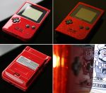 Custom Gameboy pocket with a red metal flake p by Zoki64